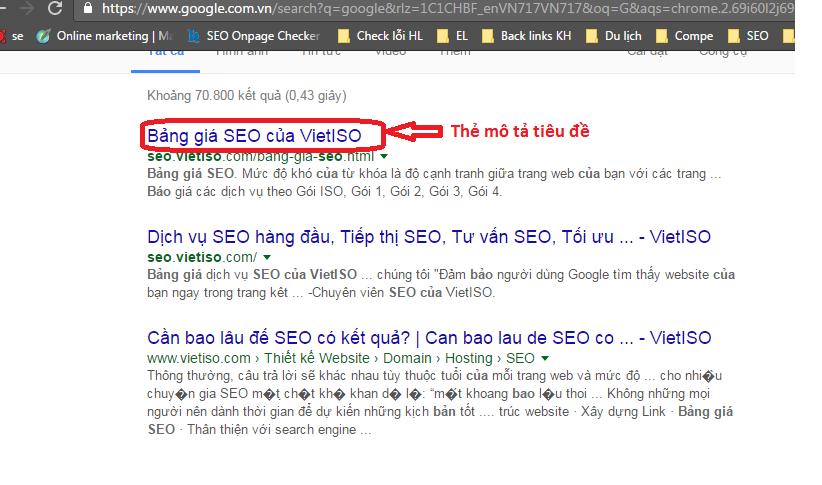 vai trò của thẻ title tags trong seo